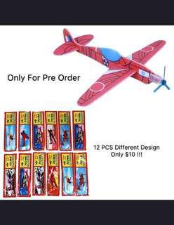 12 Pcs DIY Flying Glider Planes Kids Toy