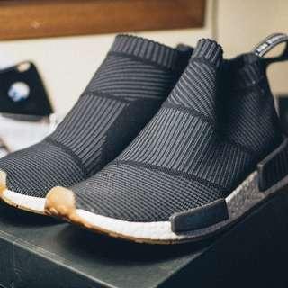 Adidas NMD City Sock Black Gum Sole