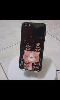 🚚 Iphone6p Iphone6sp 彩繪TPU+玻璃保護殼5.5吋(小貓咪)