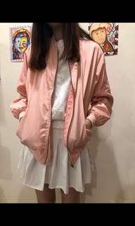 少女粉飛行外套