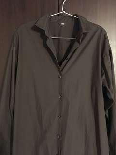 MUJI太空灰有機棉襯衫