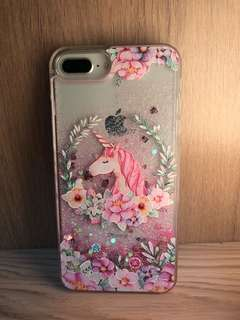 全新包邊流沙unicorn iphone 7/8 Plus Case