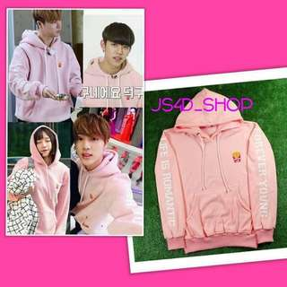 Jaket hoodie rc pink