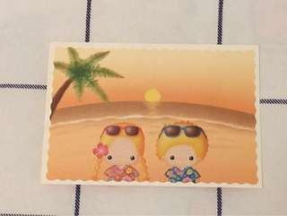 Sanrio patty & jimmy post card (絶版)
