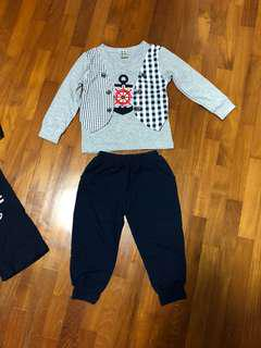 Boys Clothes nautical sailor navy set marine