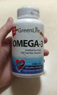 GreenLife Omega-3 Fish oil with Vitamin E