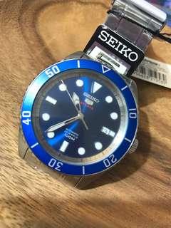 SEIKO 精工 SPORTS系列 SRPB93K1 盾牌5號 運動款 機械錶