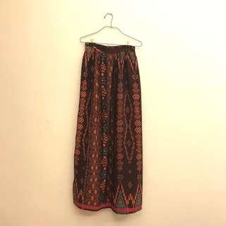 Batik Print Maxi Skirt