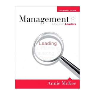 Management: A Focus on Leaders, Preliminary Edition 1st Edition by Annie McKee  (Author)