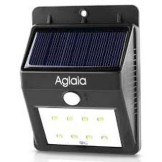 668. Aglaia Motion Sensor LED Solar Light with 8 Bright LEDs for Garden Yard Driveway, 30s Delay Time and Over 12 Hours Runtime