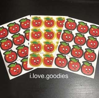 Apple sticker- preschool party goodies bag gift