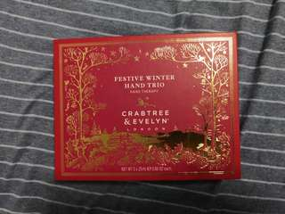 Crabtree & Evelyn-Festive Winter Hand Trio Hand Cream