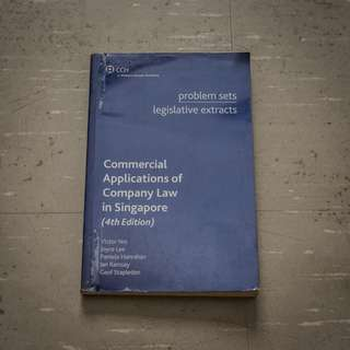 🚚 Commercial Applications of Company Law in Singapore (4th Edition) Problem Sets and Legislative Extracts AC2302