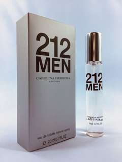 212 Men by Carolina Herrera - 20ml - Travel Size