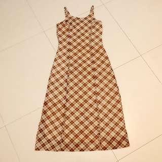 🚚 VINTAGE 復古格子長裙