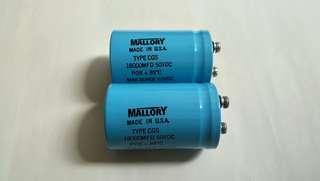 美國 MALLORY 18000MFD 50V電容一對(全新)