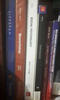 RUSH SALE! Psychology Books and 1 Rizal Book