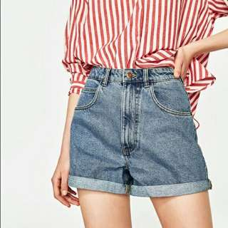 Zara high-waisted Mom Shorts