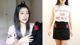 🚚 SIVIR購入玫瑰刺繡A字裙(Tiffany推薦款)