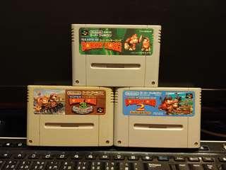 超級任天堂 - Donkey Kong Vol.1, 2 & 3 (共3盒)