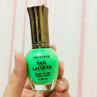Green Nail Colour