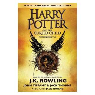 instock Harry Potter and The Cursed Child - Parts One and Two: The Official Script Book of the Original West End Production (Special Rehearsal Edition) Hardcover by J.K. Rowling