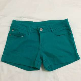 Crissa Teal Denim Shorts