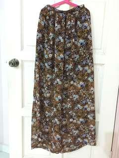 Long Autumn Floral Skirt