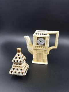 Miniature Big Ben teapot