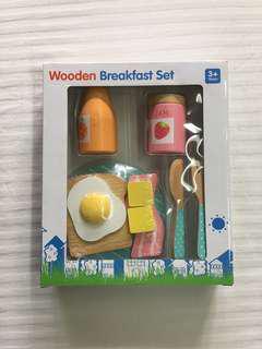 Wooden Breakfast Meal Set