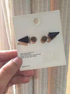 H&M Gold/Black Earrings