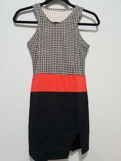F21 inspired Razor front short dress w/ slit