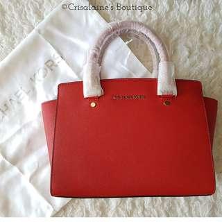 Michael Kors Selma Saffiano Leather Medium Satchel