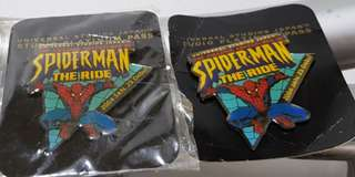 Spiderman The Ride pins