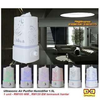 Ultrasonic Air Purifier Humidifier 1.5L