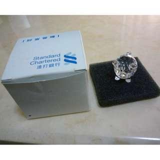 Standard Chartered 渣打銀行 財富管理 Gift 水晶擺設 水晶豬豬 水晶小豬 有盒 100% NEW