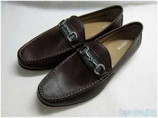 🚚 {就是愛二手} 美國經典品牌 FLORSHEIM IMFERIAL 男 全新 咖啡色 真皮 無鞋帶設計 百搭 皮鞋 便鞋
