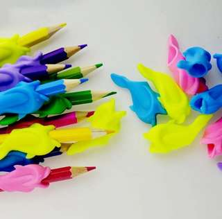 Soft silicone Pencil grip children pencil training party goodies