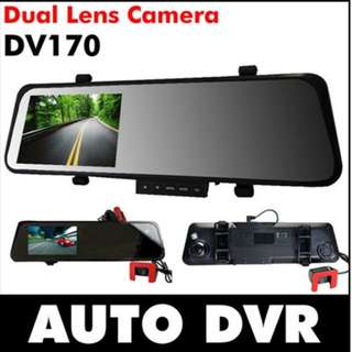 DV170 4.3LCD Dual Lens Camera Rearview Mirror Car Dvr Camera Recorder Super Wide Angle 1080P Night V