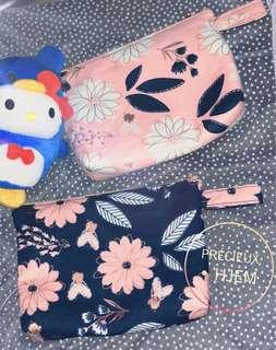 (包郵)Handmade Transvaal daisy 燙金化妝袋
