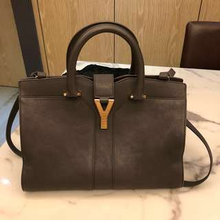 YSL classic cabas chyc leather handbag