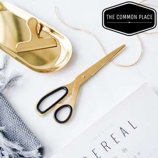 INSTOCK Vintage Style Gold Brass Stainless Steel Scissors Nordic Decor