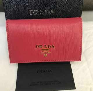 Bnew Prada card holder