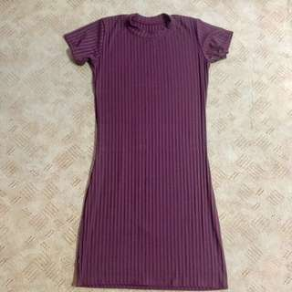 Maroon Body Fit Dress