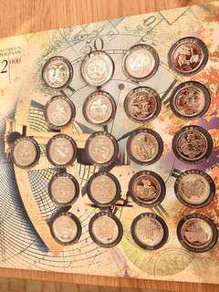21 pcs Millennium medal collection