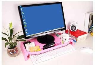 Ergonomic Monitor Stand / Keyboard Storage