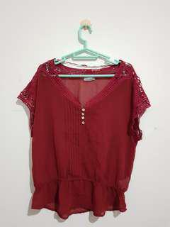 Top Red Pull & Bear
