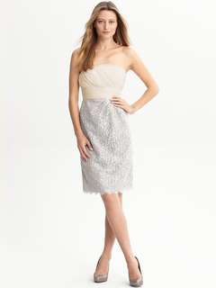 Banana Republic Monogram strapless dress - 0