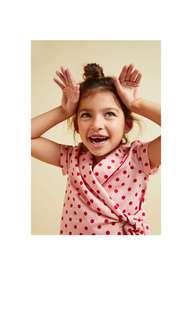 Zara 女童粉紅點點襯衫含吊牌全新賠售13-14歲