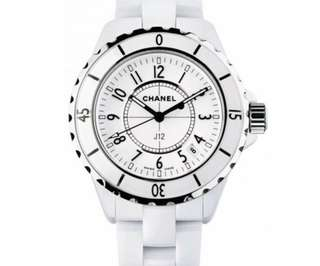 二手 Chanel J12 white ceramic and steel watch 女裝手錶腕錶